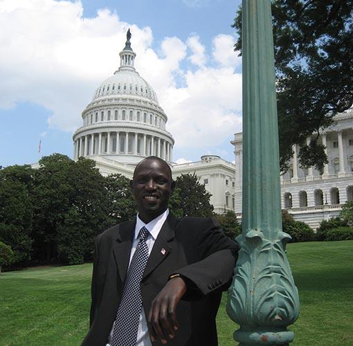 Jimmy Makuach addresses leaders in Washington DC
