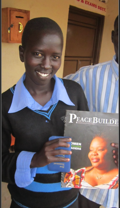 She's a girl. She can read. In South Sudan that makes her special.